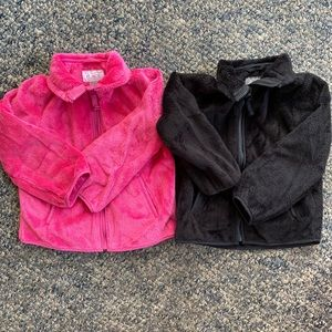 Other - (2) plush Toddler girls zip up jacket/sweatshirt